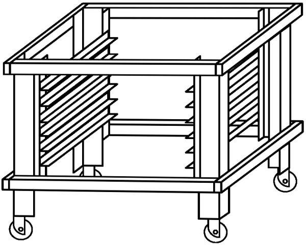 Moretti Forni Untergestell für serieP P120E B