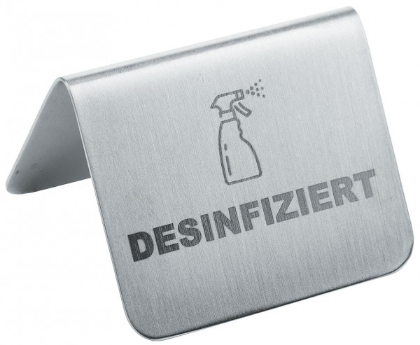 Contacto Aufsteller DESINFIZIERT