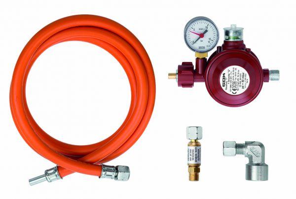 Gasanschluss-Set für Flüssiggas Innen/Außen