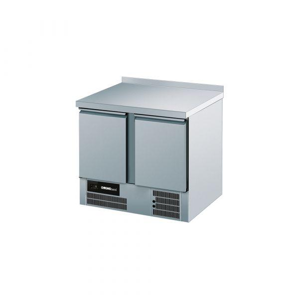 CHROMOnorm Kühltisch, 2 Türen mit Aufkantung