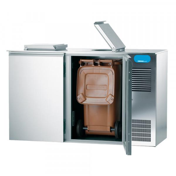 CHROMOnorm Abfallkühler, 2x 120 Liter, 2 Türen