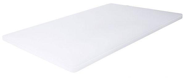 Schneidbrett weiß - 45 cm lang, 1,2 cm dick