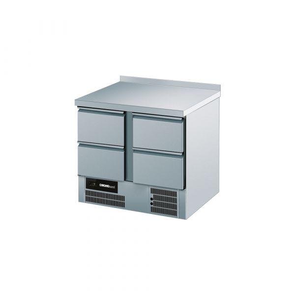 CHROMOnorm Kühltisch BR 795, 4 Schubladen, mit Aufkantung
