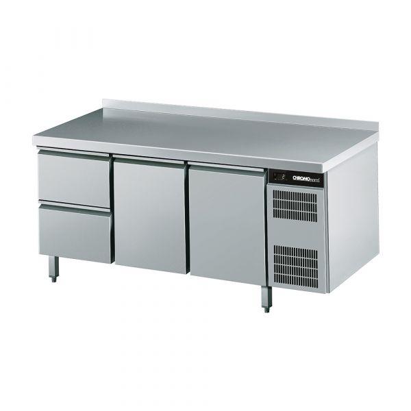 CHROMOnorm Kühltisch GN 11, 2 Türen, 2 Schubladen